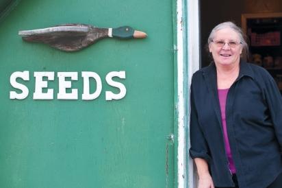 Go-to seed expert and Seedy Saturday Coordinator, Greta Kryger, and Martin Brunet offer heirloom seeds, plants and fresh organic eggs at Greta's Organic Gardens.