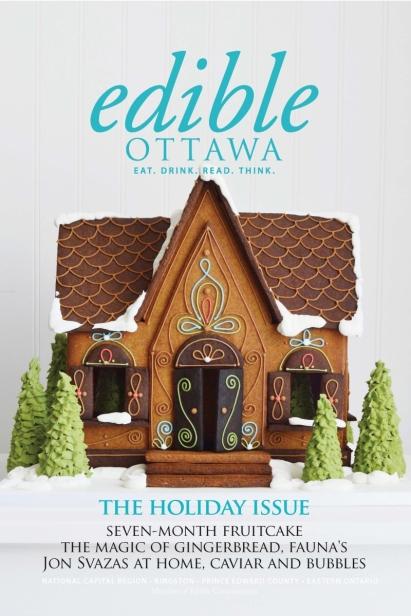 Edible Ottawa November/December 2016 cover