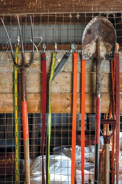 tools of the trade at Mariposa Farm