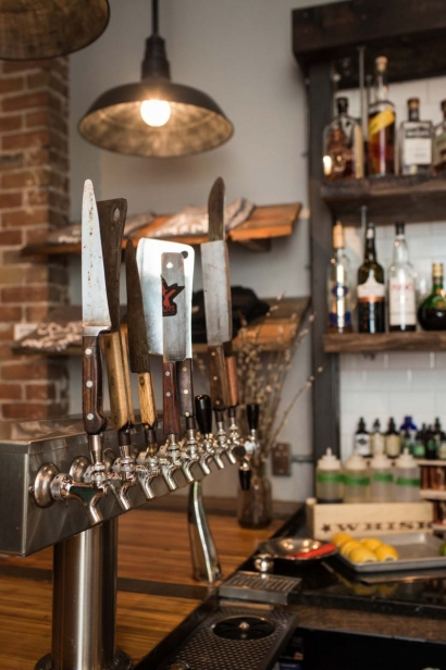 Behind Edible Ottawa's Cover: bar taps at Union 613