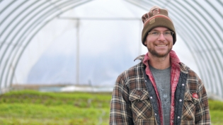 Brad Wright, co-owner of Bluegrass Farm by Anne Waters